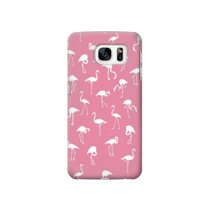 Printed Pink Flamingo Pattern Samsung Galaxy S7 Case