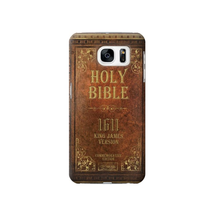 Printed Holy Bible 1611 King James Version Samsung Galaxy S7 Case