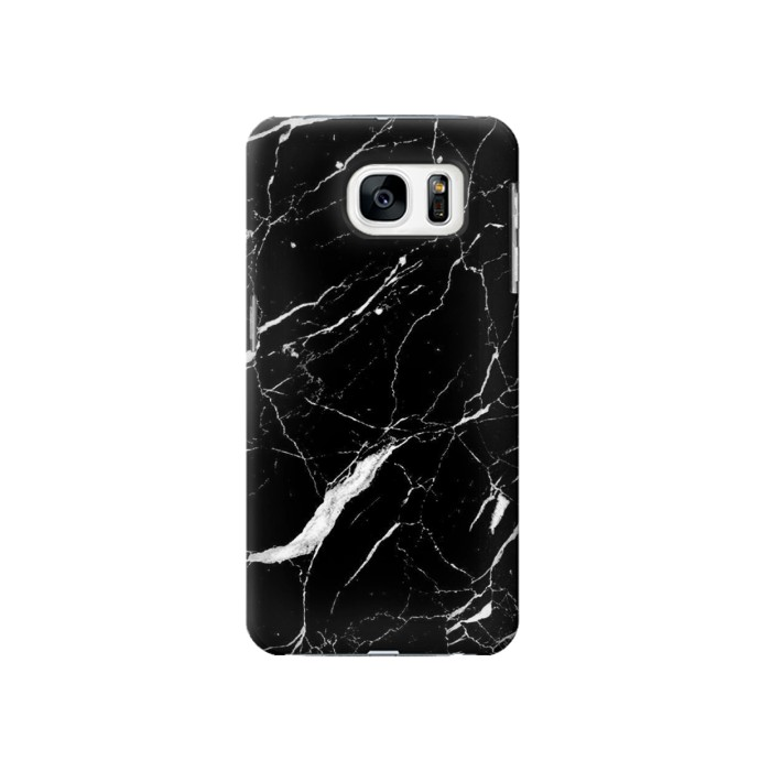 Printed Black Marble Graphic Printed Samsung Galaxy S7 Case