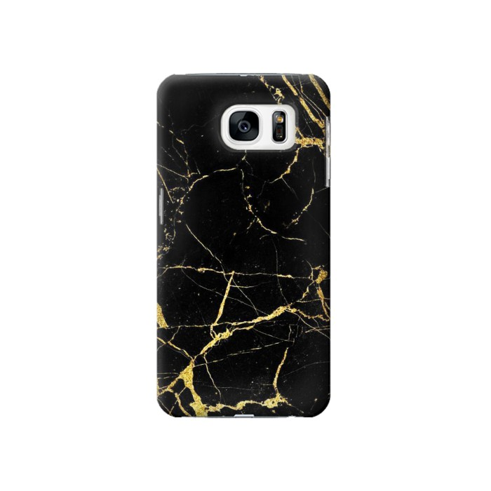 Printed Gold Marble Graphic Printed Samsung Galaxy S7 Case