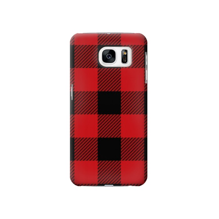 Printed Red Buffalo Check Pattern Samsung Galaxy S7 Case