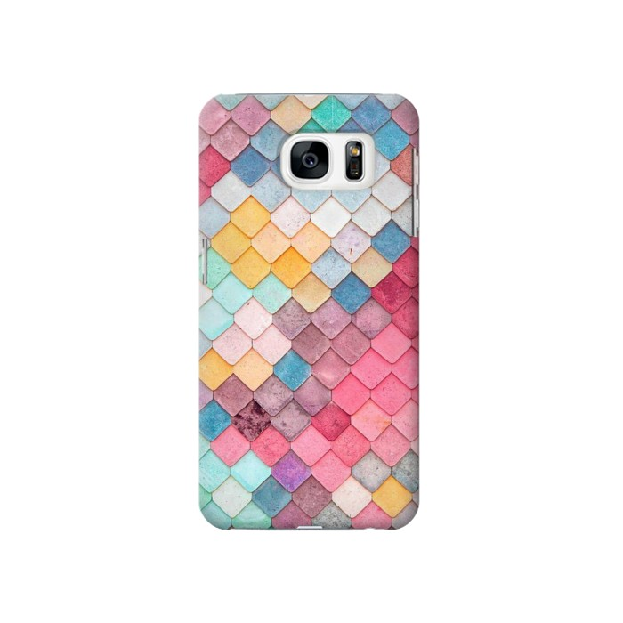 Printed Candy Minimal Pastel Colors Samsung Galaxy S7 Case