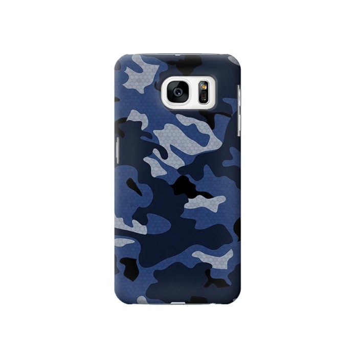 Printed Navy Blue Camouflage Samsung Galaxy S7 Case