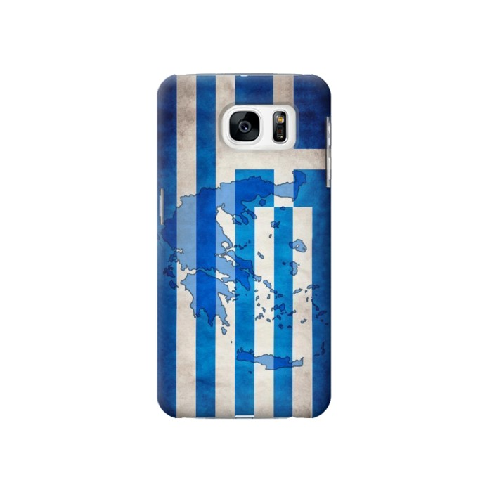 Printed Greece Map Flag Samsung Galaxy S7 Case