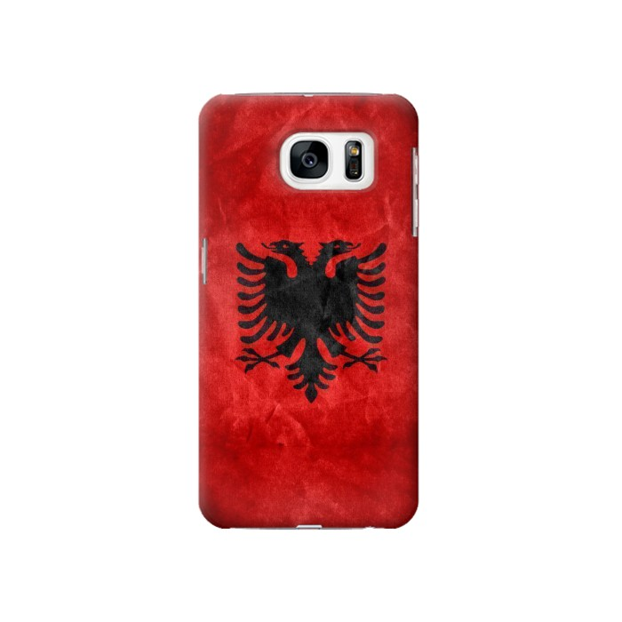 Printed Albania Red Flag Samsung Galaxy S7 Case
