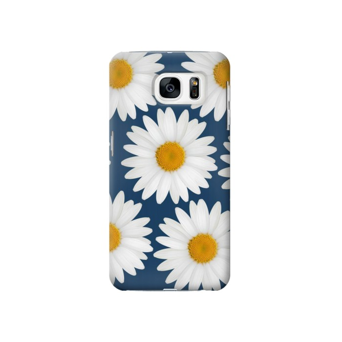 Printed Daisy Blue Samsung Galaxy S7 Case