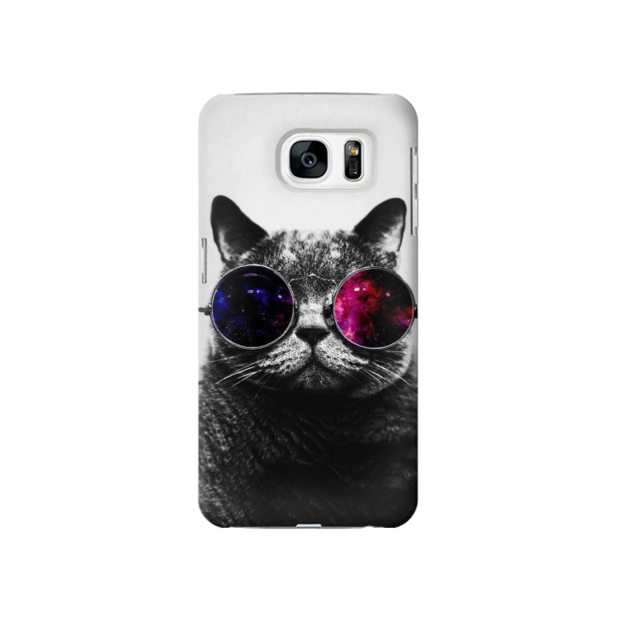 Printed Cool Cat Glasses Samsung Galaxy S7 Case