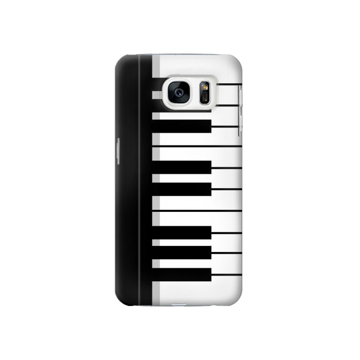 Printed Black and White Piano Keyboard Samsung Galaxy S7 Case