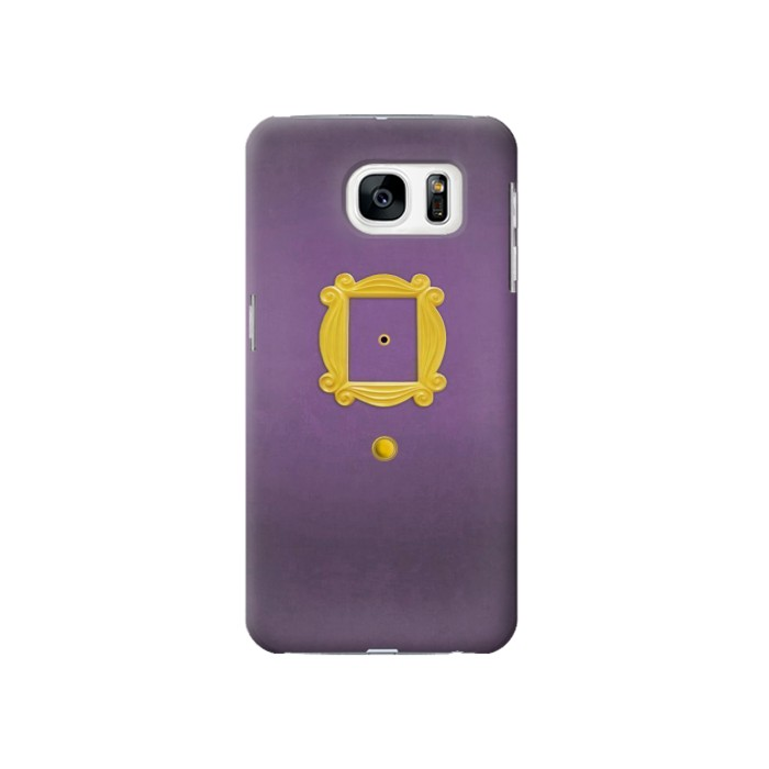Printed Friends Purple Door Minimalist Samsung Galaxy S7 Case