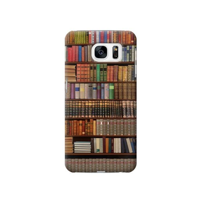 Printed Bookshelf Samsung Galaxy S7 Case