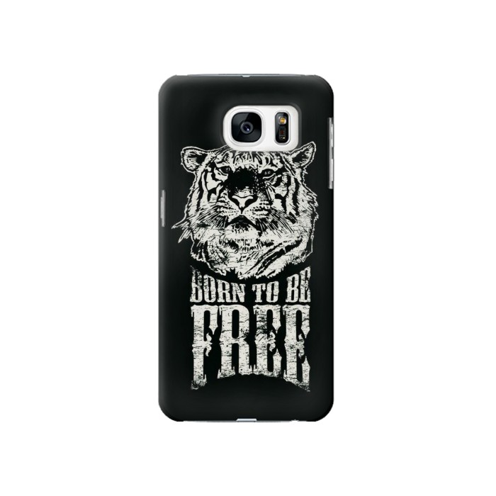 Printed Born to Be Free Tiger Samsung Galaxy S7 Case