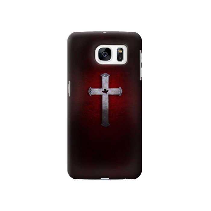 Printed Christian Cross Samsung Galaxy S7 Case