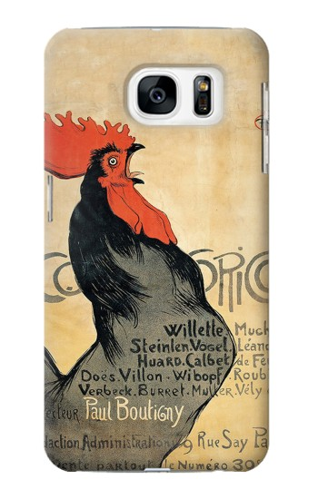 Printed Cocorico Rooster Vintage French Poster Samsung Galaxy S7 Case