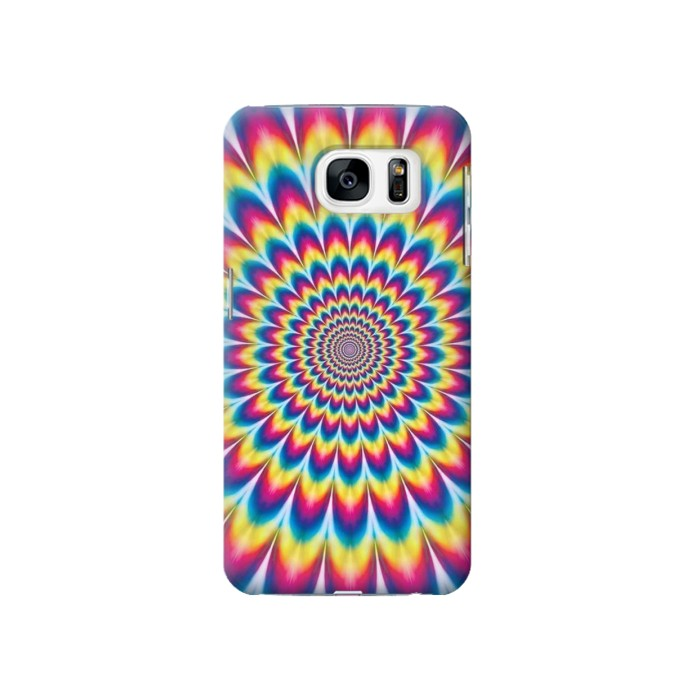 Printed Colorful Psychedelic Samsung Galaxy S7 Case