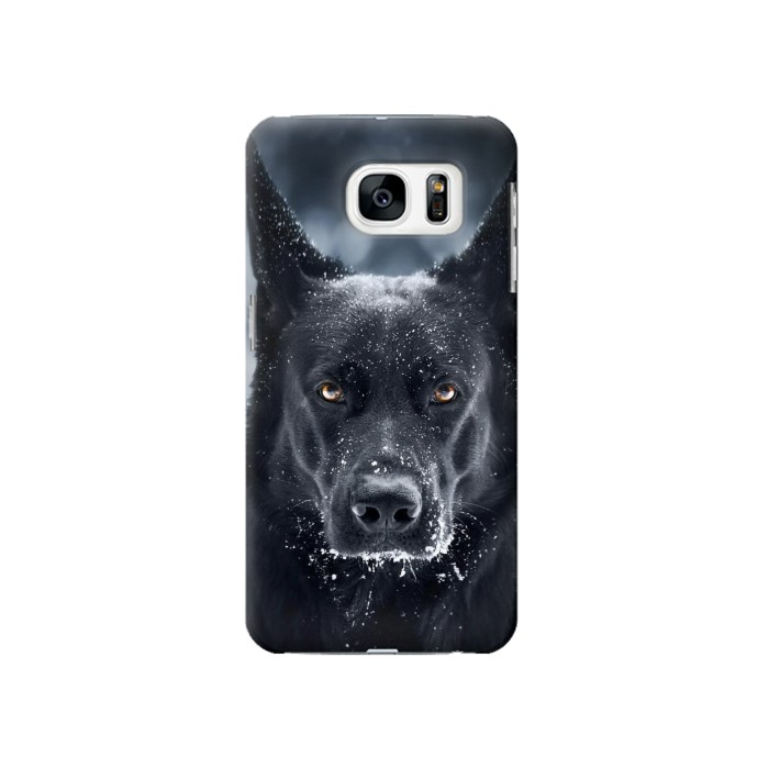 Printed German Shepherd Black Dog Samsung Galaxy S7 Case