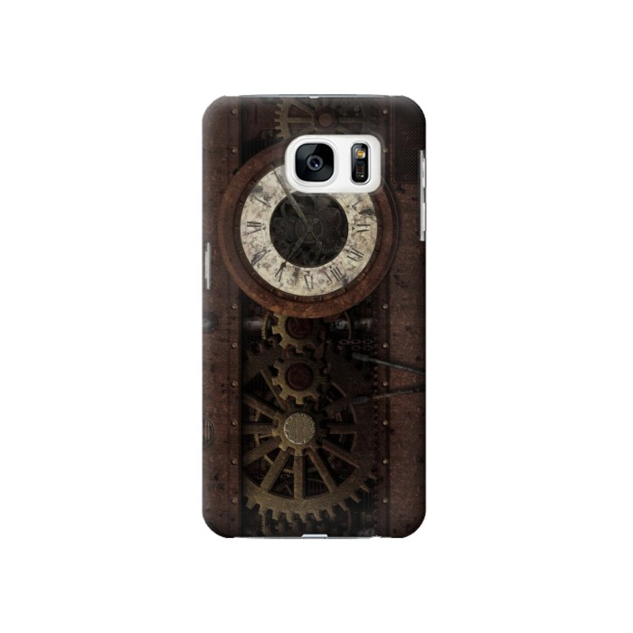 Printed Steampunk Clock Gears Samsung Galaxy S7 Case