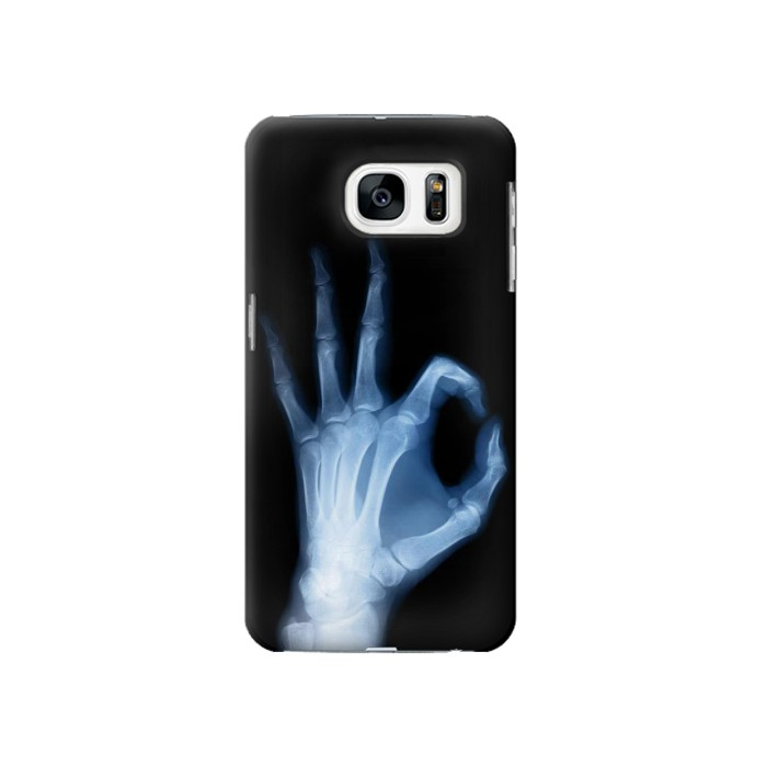 Printed X-Ray Hand Sign OK Samsung Galaxy S7 Case