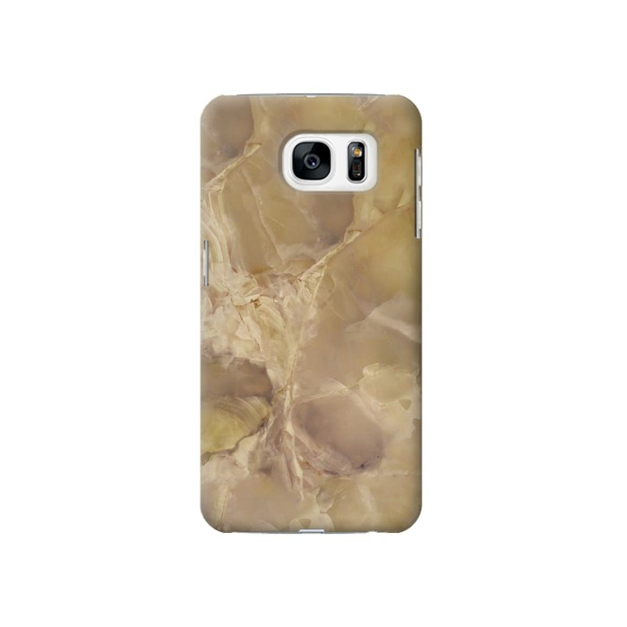 Printed Yellow Marble Stone Samsung Galaxy S7 Case