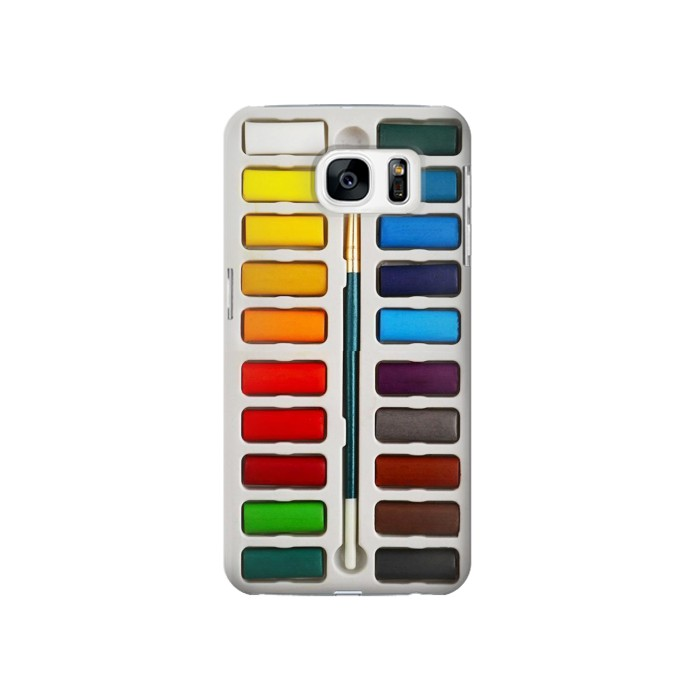 Printed Watercolor Paint Set Samsung Galaxy S7 Case