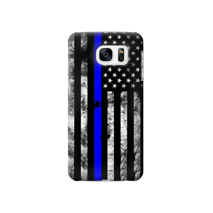 Printed Thin Blue Line USA Samsung Galaxy S7 Case