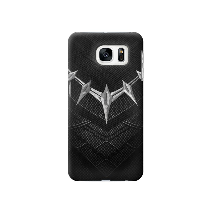 Printed Black Panther Inspired Costume Necklace Samsung Galaxy S7 Case