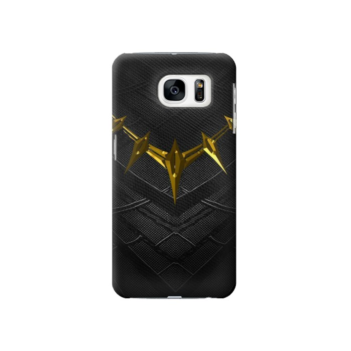 Printed Black Panther Inspired Costume Gold Necklace Samsung Galaxy S7 Case
