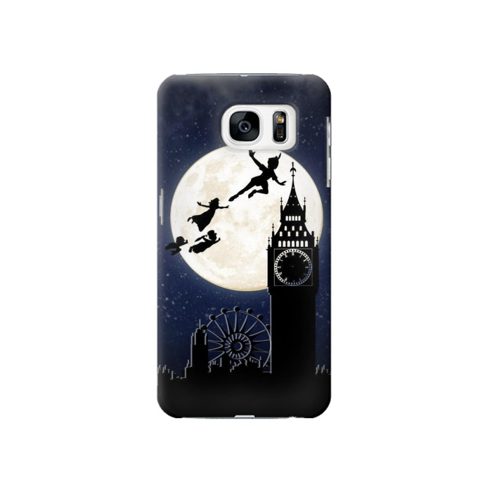 Printed Peter Pan Fly Fullmoon Night Samsung Galaxy S7 Case