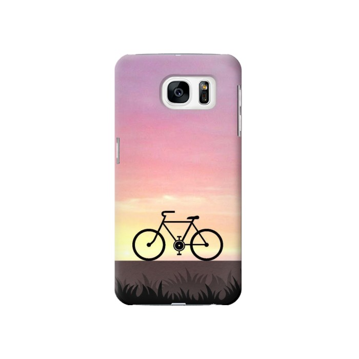 Printed Bicycle Sunset Samsung Galaxy S7 Case