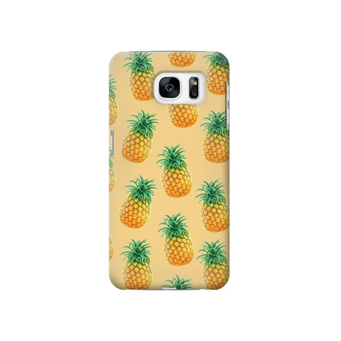 Printed Pineapple Pattern Samsung Galaxy S7 Case