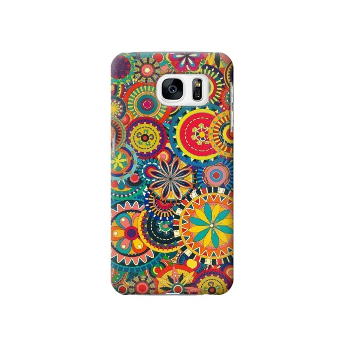 Printed Colorful Pattern Samsung Galaxy S7 Case