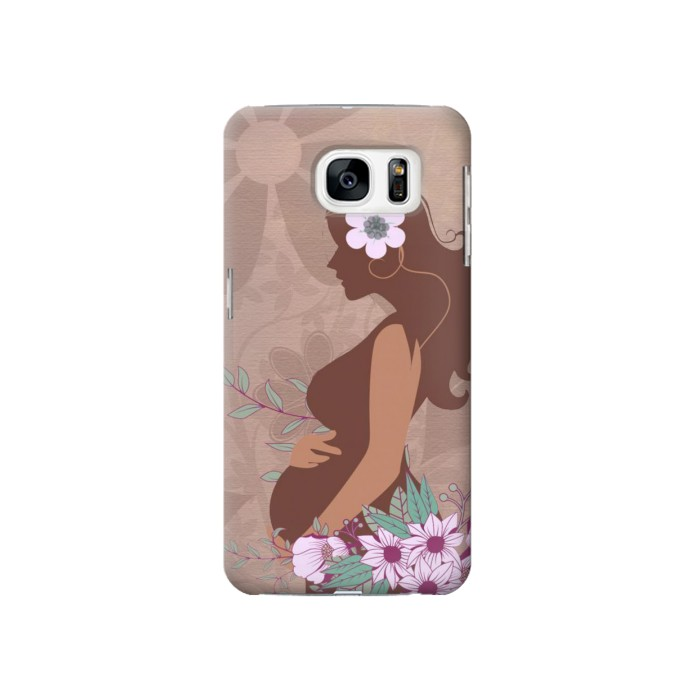 Printed Pregnant Mommy Baby Samsung Galaxy S7 Case