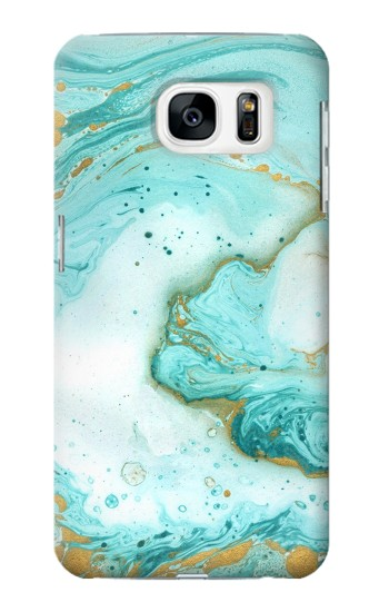 Printed Green Marble Graphic Print Samsung Galaxy S7 Case