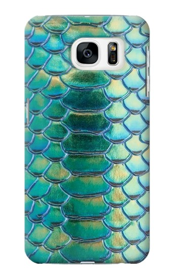 Printed Green Snake Scale Graphic Print Samsung Galaxy S7 Case