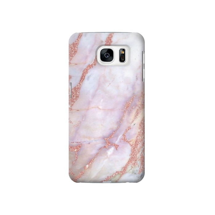 Printed Soft Pink Marble Graphic Print Samsung Galaxy S7 Case