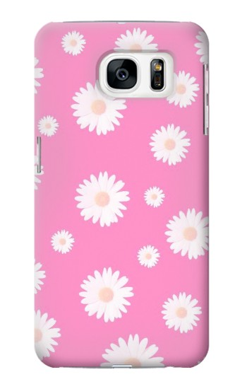 Printed Pink Floral Pattern Samsung Galaxy S7 Case