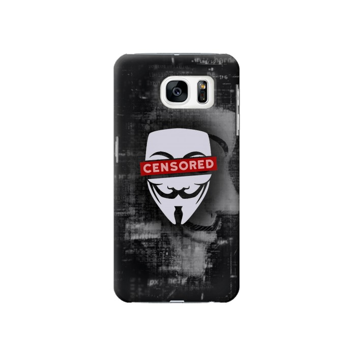 Printed Anonymous Censored Samsung Galaxy S7 Case