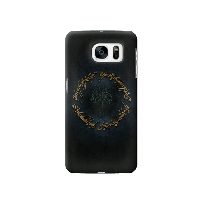 Printed Lord of The Rings Ring Elf Writing Samsung Galaxy S7 Case