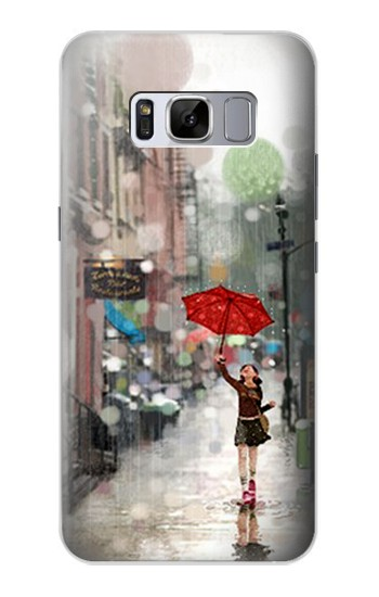 Printed Girl in The Rain Samsung Galaxy S8 Case