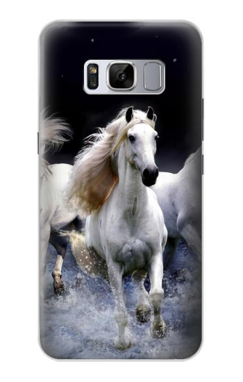 Printed White Horse Samsung Galaxy S8 Case