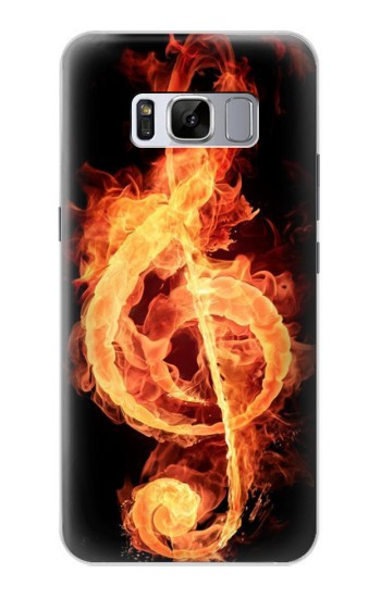 Printed Music Note Burn Samsung Galaxy S8 Case