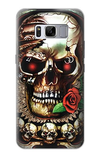 Printed Skull Wing Rose Punk Samsung Galaxy S8 Case