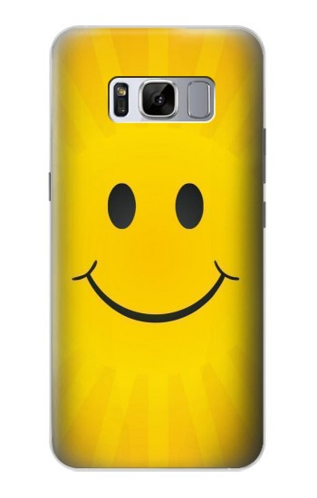 Printed Yellow Sun Smile Samsung Galaxy S8 Case