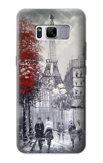 Printed Eiffel Painting of Paris Samsung Galaxy S8 Case