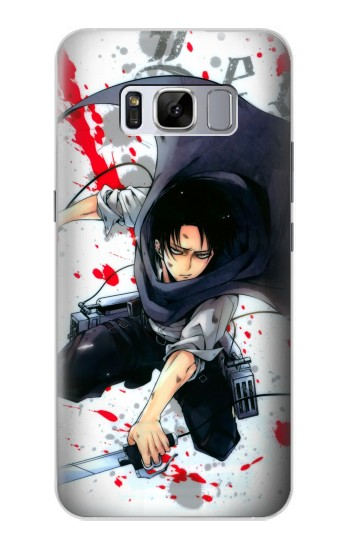 Printed Attack on Titan Rivaille Levi Samsung Galaxy S8 Case