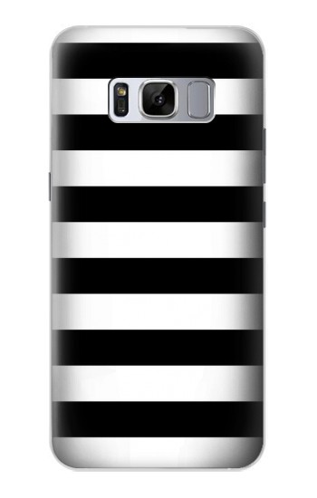 Printed Black and White Striped Samsung Galaxy S8 Case