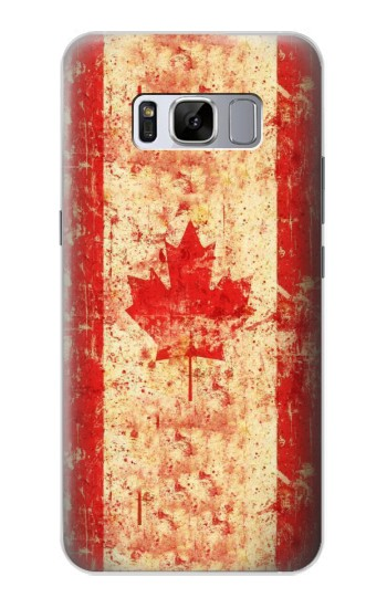 Printed Canada Flag Old Vintage Samsung Galaxy S8 Case