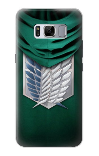 Printed Attack on Titan Scouting Legion Rivaille Green Cloak Samsung Galaxy S8 Case