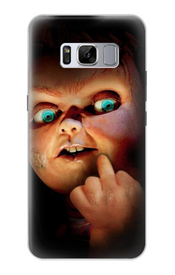 Printed Chucky Middle Finger Samsung Galaxy S8 Case