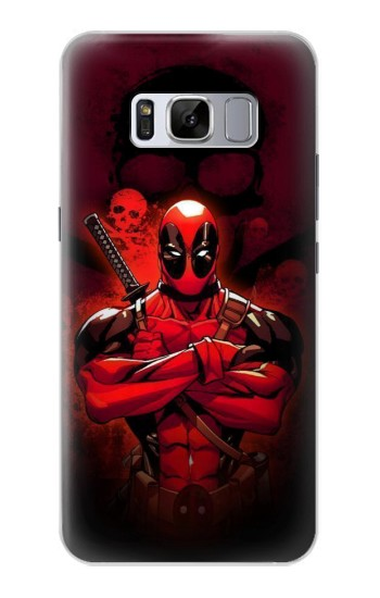 Printed Deadpool Skull Samsung Galaxy S8 Case