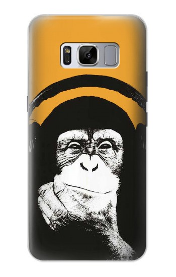 Printed Funny Monkey with Headphone Pop Music Samsung Galaxy S8 Case